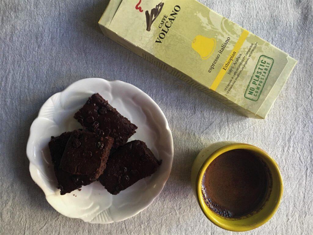 Μπράουνις με καφέ και κάψουλες καφέ
